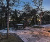 evening flagstone patio